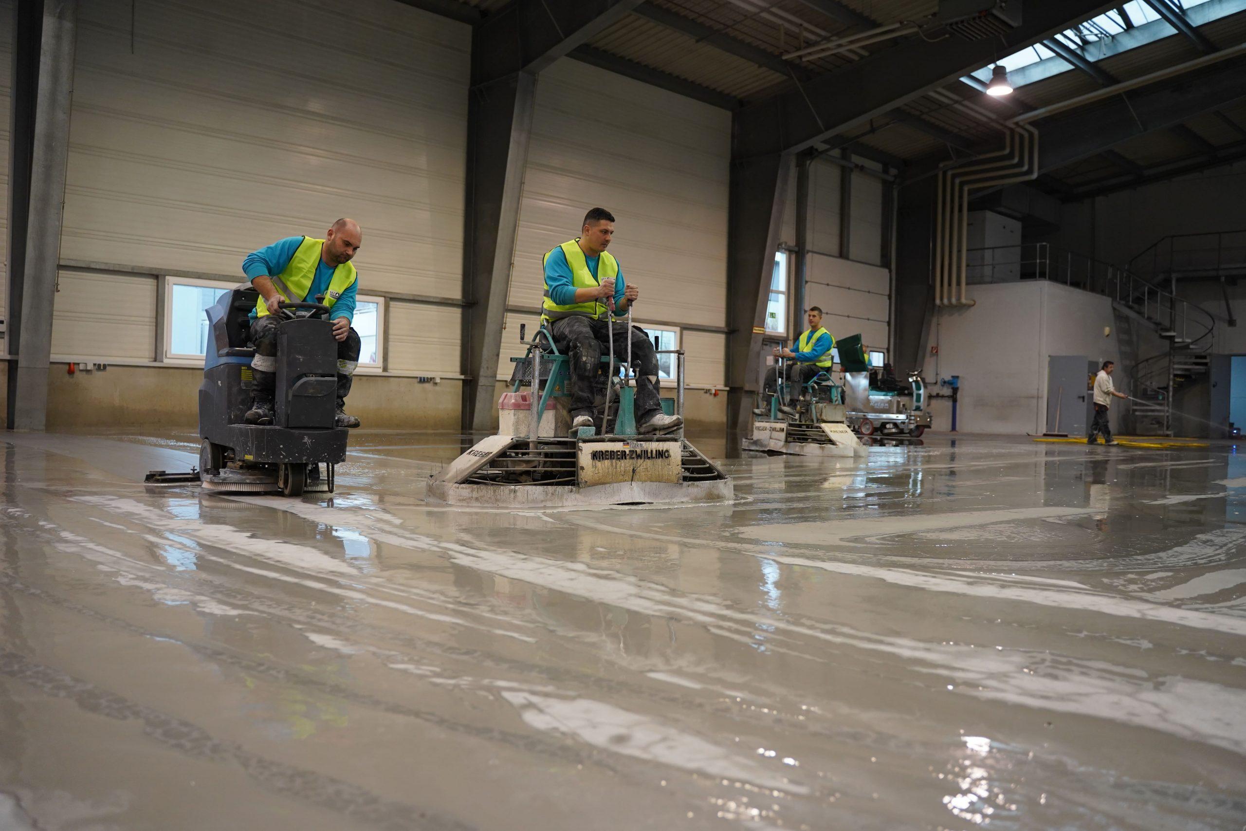 wet grinding concrete floor