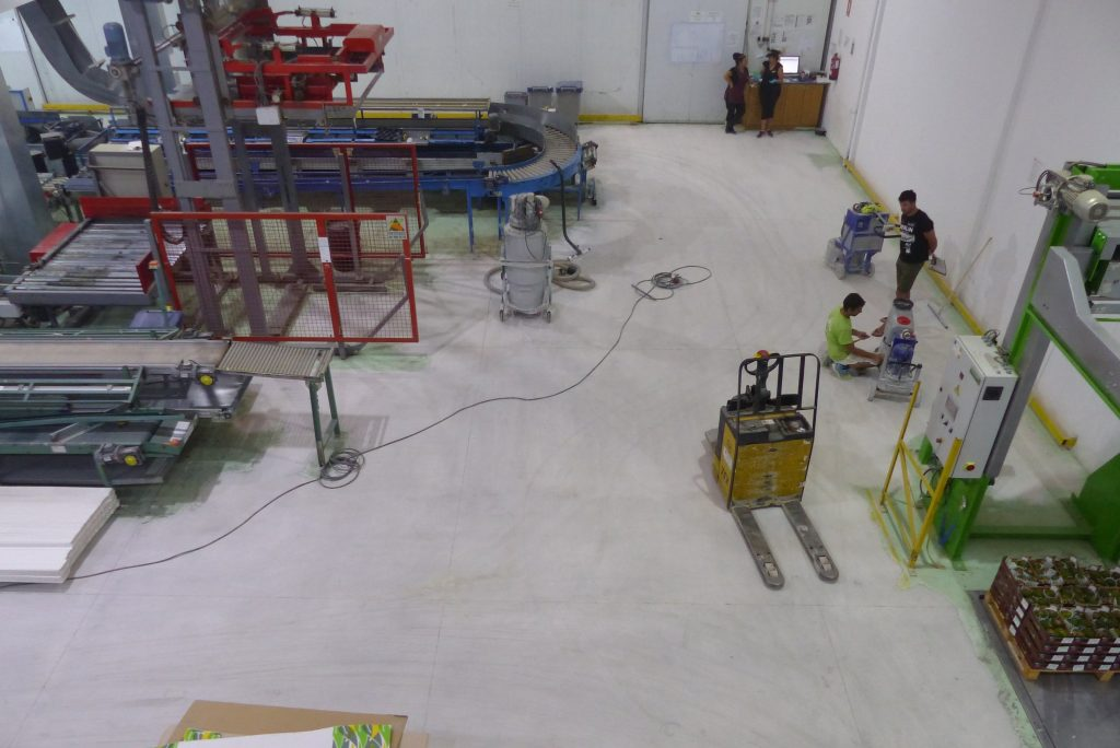 Dry Polishing Concrete Floor