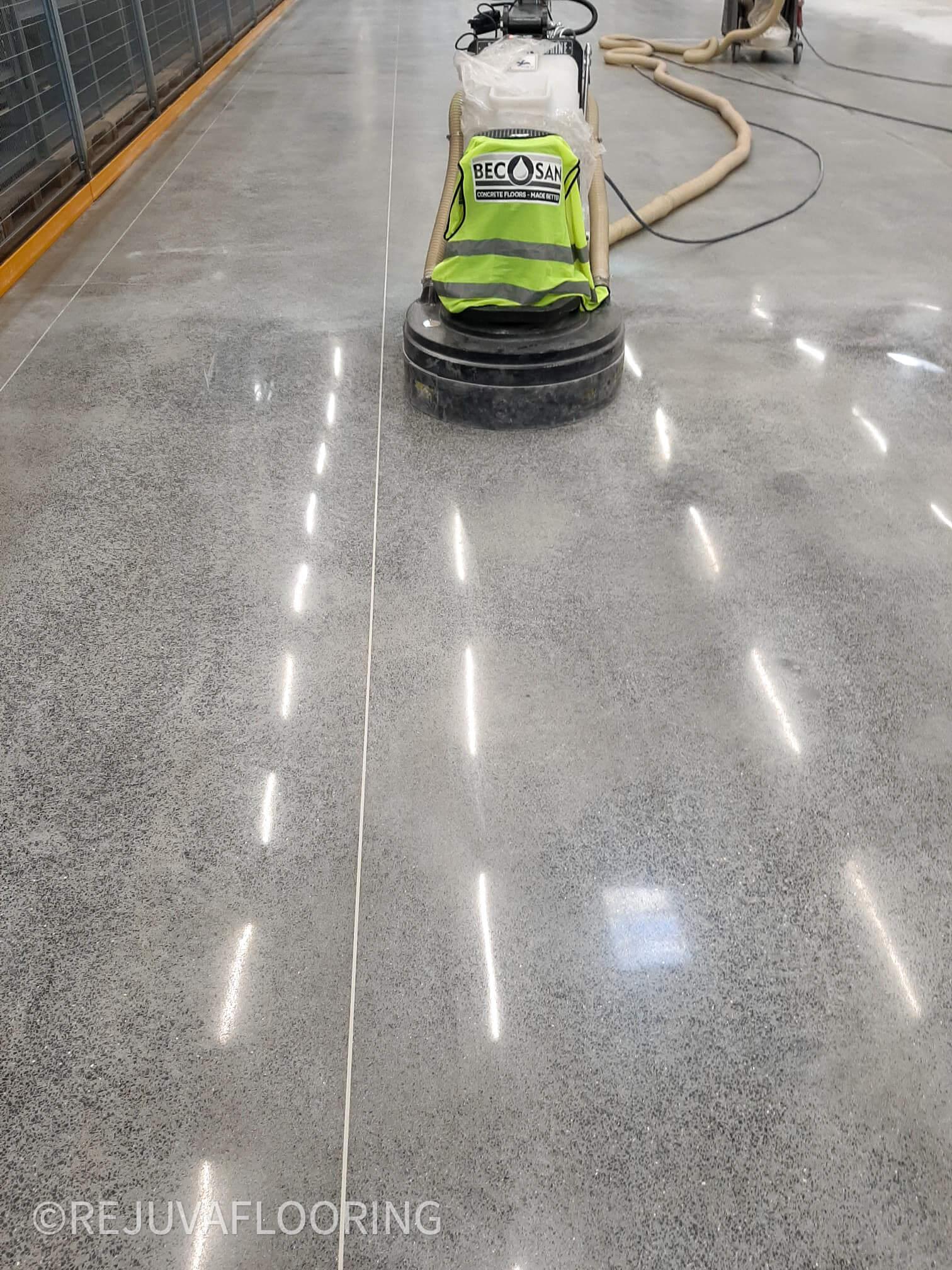 Shiny Concrete Buffing